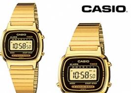 reloj casio dorado supermercados dia