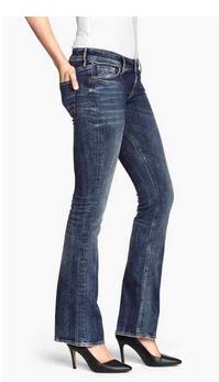 boot cut jeans h&m