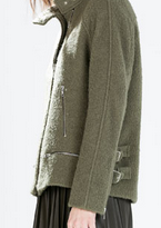 chaqueton cuello rebajas zara mujer 2015