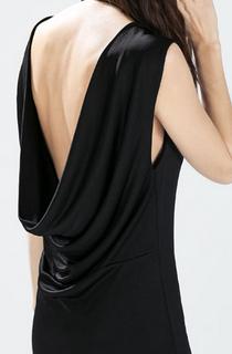vestido drapeado espalda rebajas zara mujer 2015