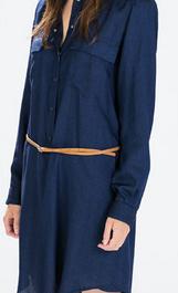 vestido camisero rebajas zara mujer 2015