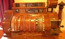 Una de las primeras cajas registradoras