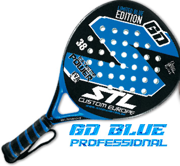 pala padel gd custom steel blue limited edition marca
