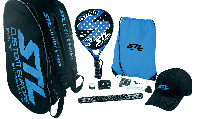 set completo custom steel padel marca