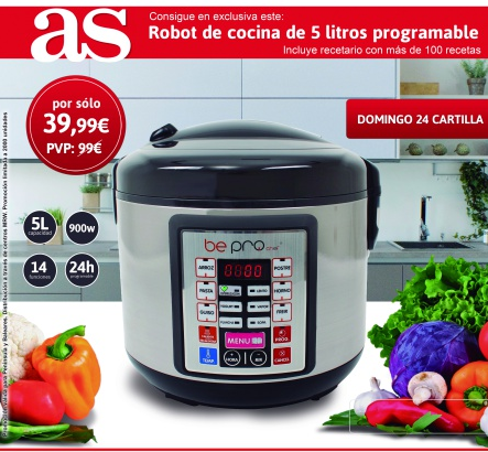 robot cocina programable diario as